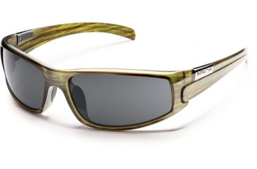 Suncloud Polarized Optics Swagger Sunglasses - Green Stripe Frame and Gray Polarized Polycarbonate Lens S-SGPPGYGNS