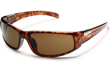 Suncloud Polarized Optics Swagger Sunglasses - Tortoise Frame and Brown Polarized Polycarbonate Lens S-SGPPBRTT