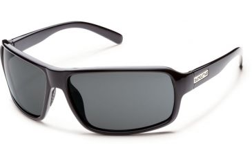 Suncloud Polarized Optics Tailgate Sunglasses - Black Frame and Gray Polarized Polycarbonate Lens S-TLPPGYBK