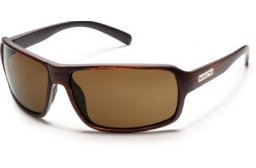 Suncloud Polarized Optics Tailgate Sunglasses - Burnished Brown Frame and Brown Polarized Polycarbonate Lens S-TLPPBRBR