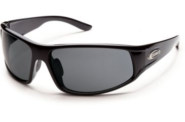 Suncloud Polarized Optics Warrant Sunglasses - Black  Frame and Gray Polarized Polycarbonate Lens S-WAPPGYBK