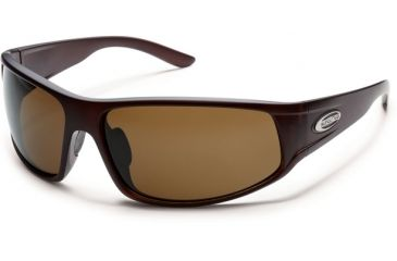 Suncloud Polarized Optics Warrant Sunglasses - Matte Brown  Frame and Brown Polarized Polycarbonate Lens S-WAPPBRMBR
