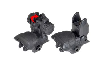 2-Sniper AR Tactical Smart Flip-Up Backup Sight Set