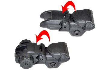 3-Sniper AR Tactical Smart Flip-Up Backup Sight Set