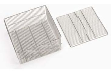 SP Industries Accessories for Vertical, Undercounter, and Freestanding/Mobile Glassware Washers, National N0601-857 Baskets Test Tube Basket And Lid, Holds 150 Tubes, 75 Mm Length, Quarter-Rack Size