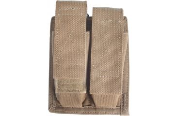 Spec Ops M-9 Double Magazine Pouch w/ Hook & Loop Closure, Coyote Brown - 100500211