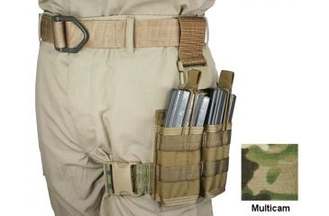 Specter Gear 30 rd. 5.56mm 2 Magazine Rapid Reload Tactical Thigh Rig,MultiCam 740 MULT