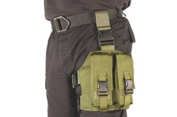 10-Specter Gear Double Magazine Pouch Tactical Thigh Rig for 30 Round 5.56mm M-16 / AR-15 Mags