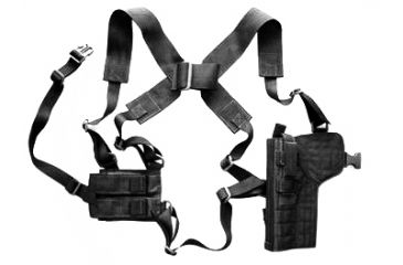 3-Specter Gear Vertical Shoulder Holster w/ Double Pistol Mag Pouch, M9 / Beretta 92F