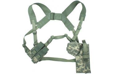 6-Specter Gear Vertical Shoulder Holster w/ Double Pistol Mag Pouch, M9 / Beretta 92F