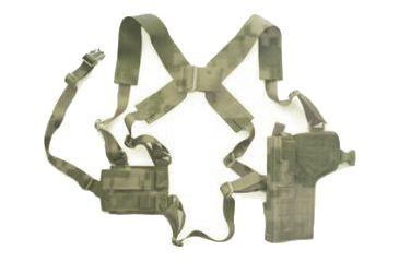 8-Specter Gear Vertical Shoulder Holster w/ Double Pistol Mag Pouch, M9 / Beretta 92F