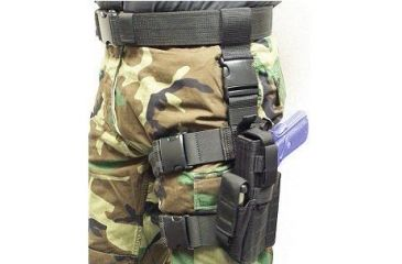 Specter Gear Tactical Thigh Holster, Sig P226 / P220, 4.4 bbl, Left Hand -Black