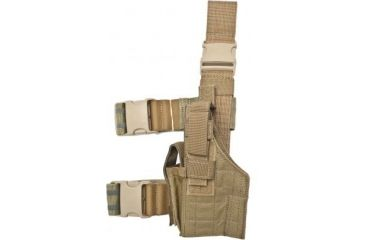 Specter Gear Tactical Thigh Holster, P-35 Hi-Power, 5 bbl, Right Hand Coyote