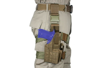Specter Gear Tactical Thigh Holster, HK USP45, 4.41 bbl, Right Hand Coyote