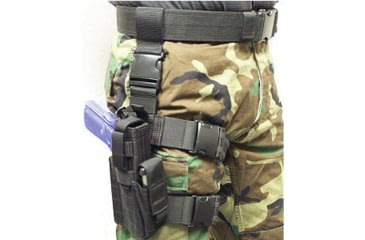 Specter Gear Tactical Thigh Holster, Glock 20 / 21, 4.60 bbl, Right Hand -Black