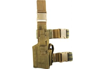 Specter Gear Tactical Thigh Holster, Right, Coyote 191RHCOY