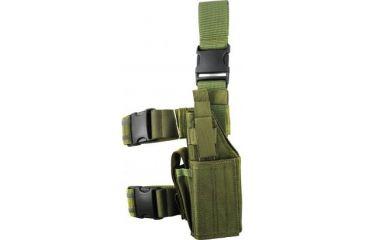 Specter Gear Universal Tactical Thigh Holster - Left Hand, OD Green 607 LH-OD
