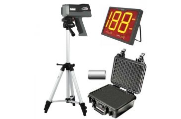 Bushnell Speedster 3 Radar Gun Ultimate Kit - Speedster-III,  Batteries, Pelican Hard Case, Tripod, and Wireless SpeedScreen Display