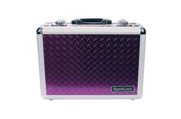 SportLock Double Pistol Case, Purple, 11.75x8.5x4in 00002PR