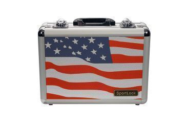 SportLock Double Pistol Case, USA Flag, 11.74x8.5x4in 00002F
