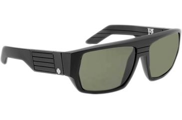 Spy Optic Blok Sunglasses Matte Black Frame Grey Lens 670923374129