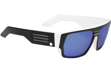 Spy Optic Blok Sunglasses - Whitewall Frame and Grey W/Navy Spectra Lens 670923809811