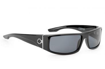 Spy Optic Cooper Sunglasses, Black Gloss Frame, Grey Polarized Lens 670195062135