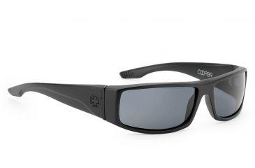 Spy Optic Cooper Sunglasses, Matte Black Frame, Grey Lenses 670195374129