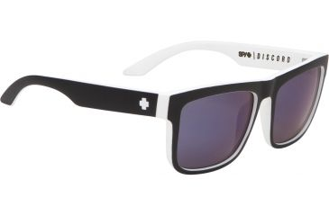 Spy Optic Discord Sunglasses - Whitewall Frame and Grey W/Blue Spectra Lens 673036090121