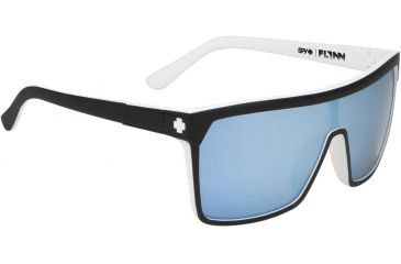Spy Optic Flynn Sunglasses - Whitewall Frame and Grey W/Light Blue Spectra Lens 673016809131