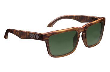 Spy Optic Helm Sunglasses w/ Classic Tortoise Frame & Grey Green Lens