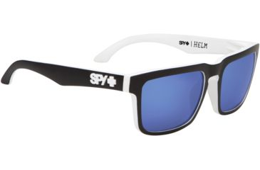 Spy Optic Helm Sunglasses - Whitewall Frame and Grey W/Navy Spectra Lens 673015809121