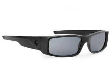 Spy Optic Hielo Sunglasses, Matte Black Frame, Grey Lenses 670375374129