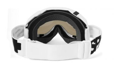 Spy Optic Klutch MX Goggles w/ White Sabbath Frame & Clear Smoke Silver Mirror Antifog Lens w/ Posts