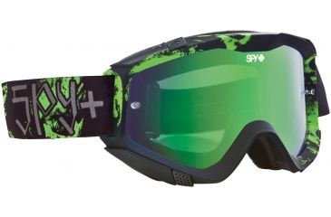 Spy Optic Klutch MX Goggles - Reaper Frame and Smoke w/Green Spectra Lens 322017376826