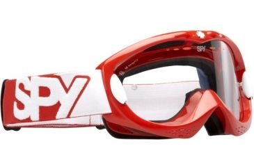 Spy Optic Alloy MX Goggles - Red frame, Clear lens