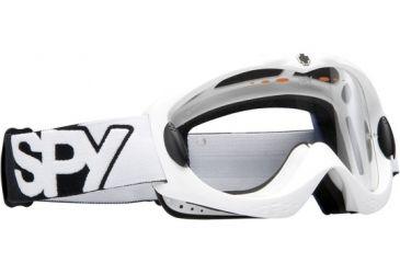 Spy Optic Alloy MX Goggles - White frame, Clear lens