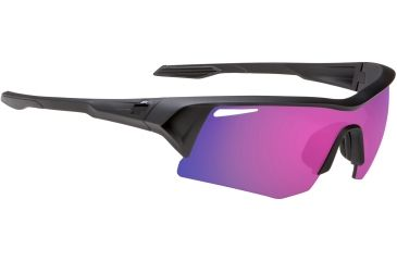 Spy Optic Screw Sunglasses - Black Ice Frame and Grey W/Purple Spectra Lens 673019975219