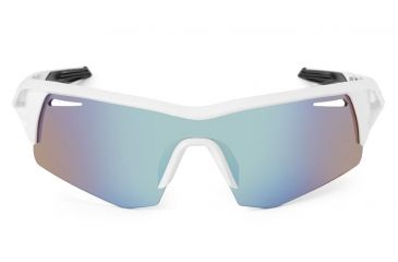 Spy Optic Screw Sunglasses w/ White Frame & Bronze Blue Spectra Lens