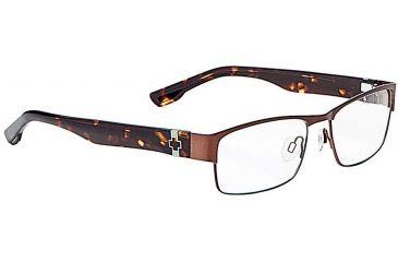 Spy Optic Single Vision Prescription Eyeglasses - Trenton 55 - Chestnut/Dark Tort Frame SRX00055RX