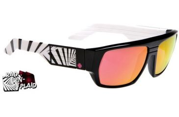 Spy Optic Blok Sunglasses Black w/ White 80'S - Bronze Red Spectra 670923256083