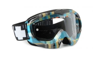 Spy Optic Targa Mini Mx Goggles w/ Pop Plaid Frame & Clear Antifog Lens w/ Posts