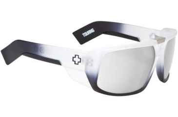 Spy Optic Touring Sunglasses - White Lightning Frame and Grey W/ Silver Mirror Lens 670795787143