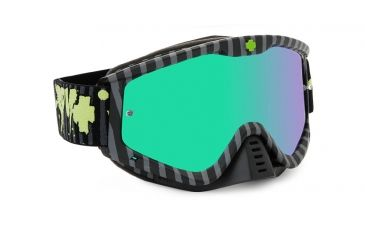 Spy Optic Whip MX Goggles w/ Horrorific Frame & Smoke Green Spectra Mirror Antifog Lens w/ Posts