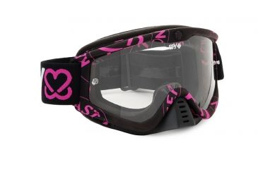 Spy Optic Whip MX Goggles w/ Spy + Keep A Breast Frame & Clear Antifog Lens w/ Posts