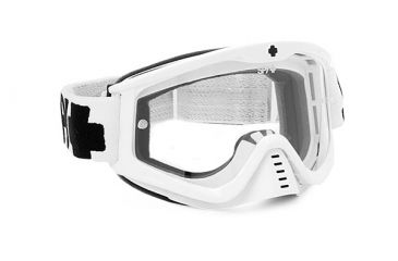 Spy Optic Whip MX Goggles, White Enduro Frame, Dual Clear Antifog Lens 320791683115