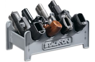 Stack-On 4 Position Pistol Rack, Small, Grey SPAPR-4