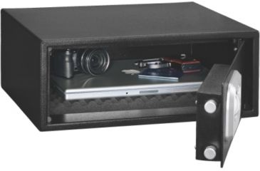 Stack-On Extra Wide Safe w/ Biometric Lock, Black PS-7-B