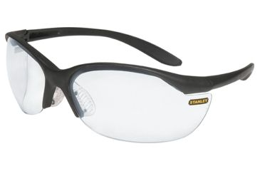 Stanley Rst 61004 Vapor Black Frame Clear Lens Sport Safety Glasses