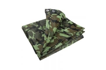 Stansport Rip Stop Tarp - 12x16ft,Woodland Camo T-1216-C